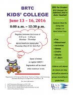 Kids' College Flyer 2016